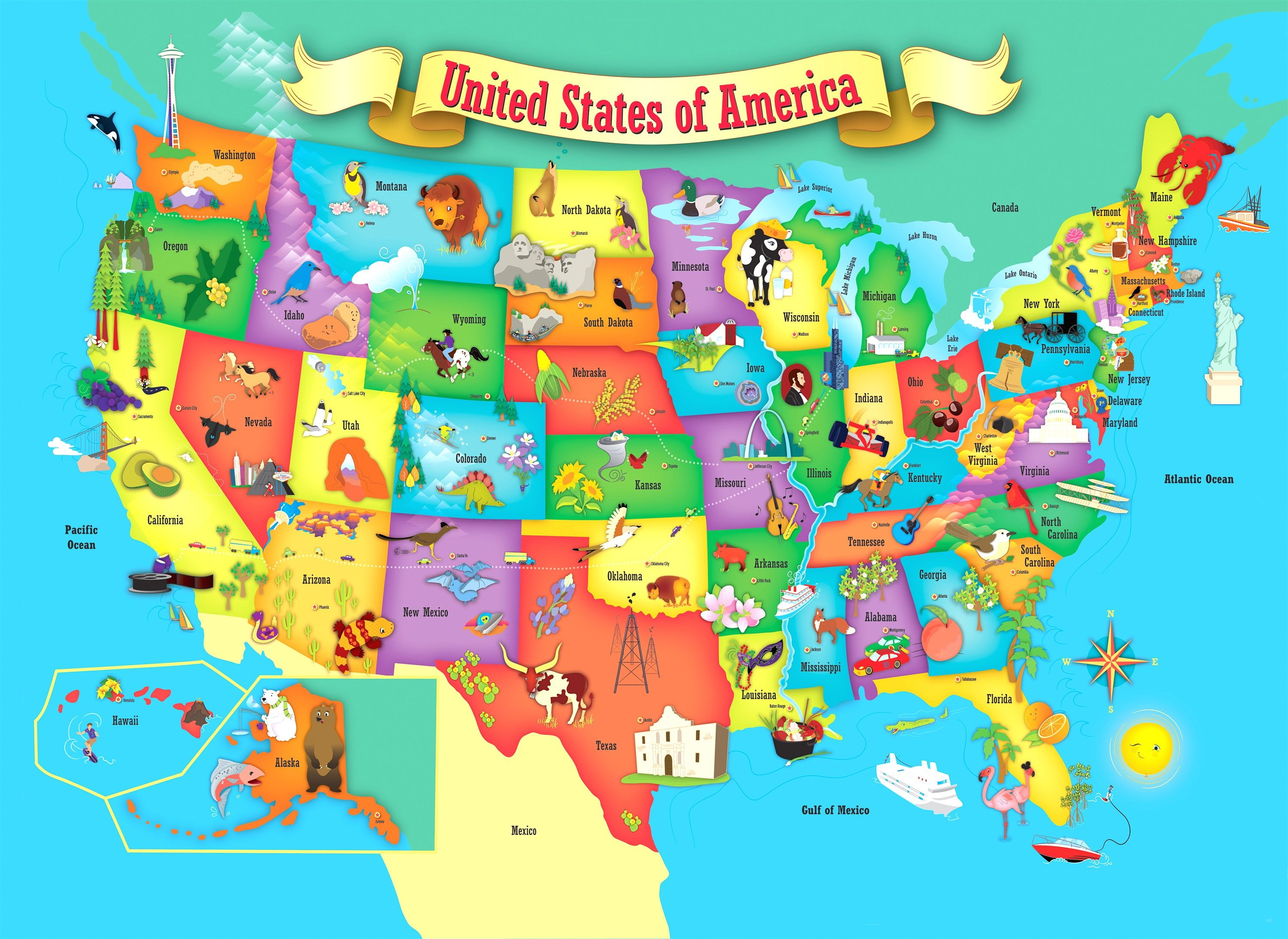 Printable Map Of The Us Mark The States Ive Visited Craft Usa - Map - Printable Usa Puzzle