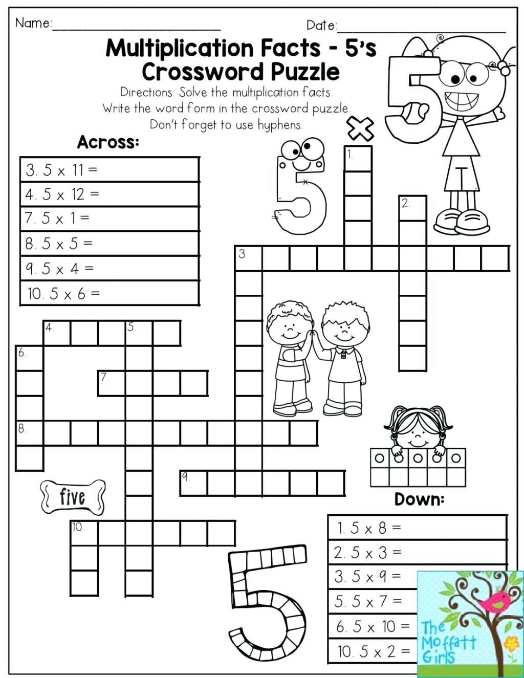 Printable Math Puzzles 5Th Grade Maths Ksheets Middle School Pdf Fun - Printable Maths Puzzles Ks3