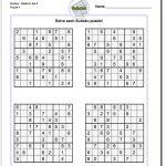 Printable Medium Sudoku Puzzles | Math Worksheets | Sudoku Puzzles   Printable Sudoku Puzzle Medium