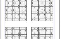 Printable Medium Sudoku Puzzles | Math Worksheets | Sudoku Puzzles   Printable Sudoku Puzzles 4 Per Page