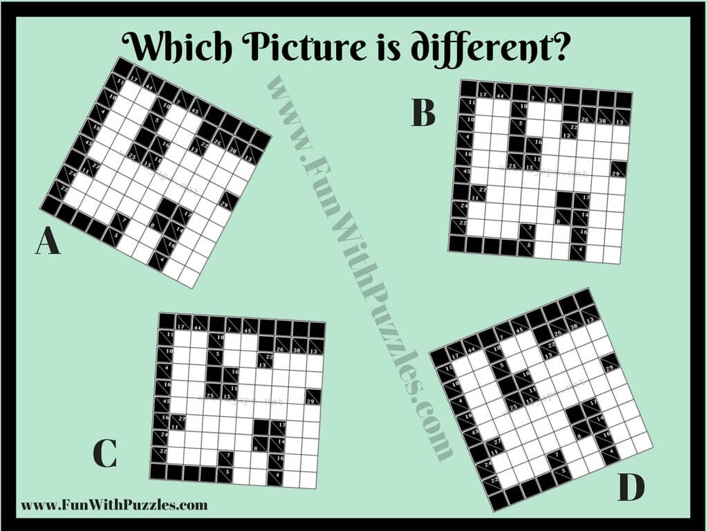 Printable Odd One Out Kakuro Picture Puzzle-Fun With Puzzles - Printable Puzzles Kakuro