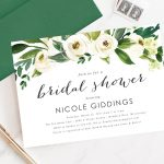 Printable Or Printed Watercolor White And Green Floral Header | Etsy   Printable Dropdown Puzzles