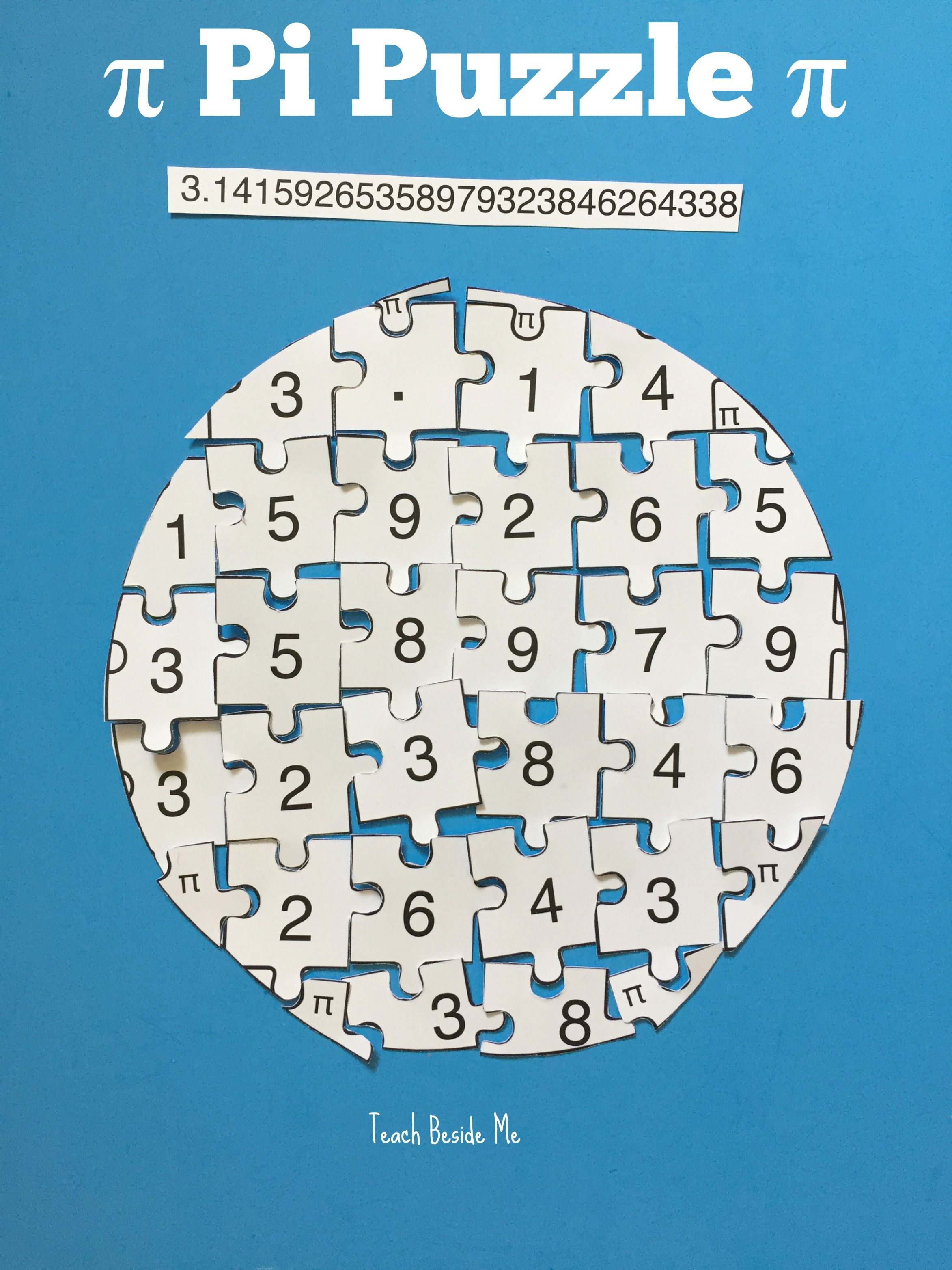 Printable Pi Puzzle For Pi Day   Teach Beside Me   Teaching Math - Printable Puzzle Of The Day