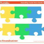 Printable Puzzle Piece Border – Tim's Printables   Printable Puzzle Paper