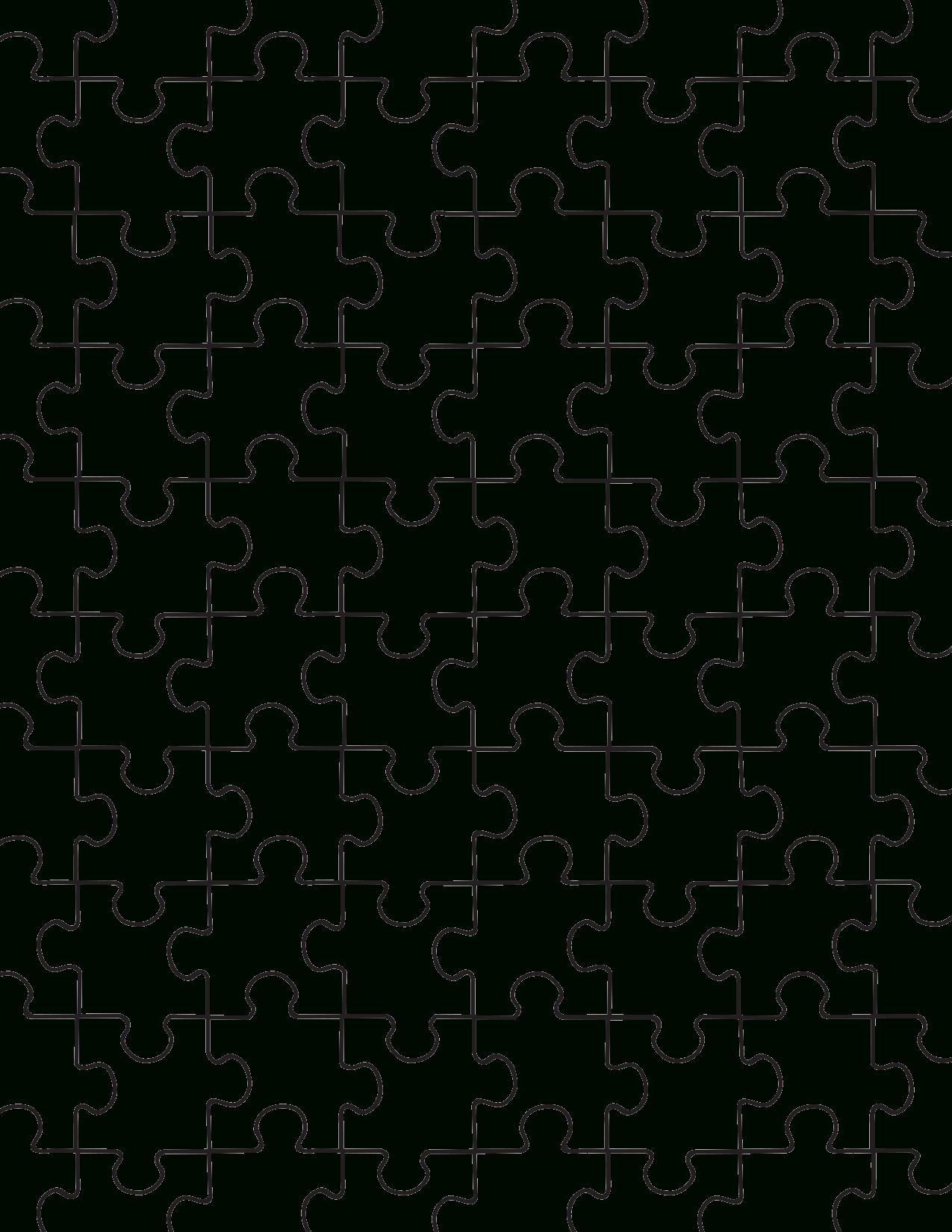 Printable Puzzle Pieces Template   Decor   Puzzle Piece Template - Printable Jigsaw Puzzle Pieces