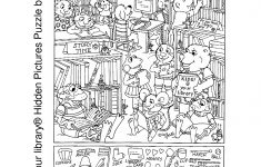 Printable Puzzles For Adults | Kids Your Library® Hidden Pictures   Printable Hidden Object Puzzles For Adults