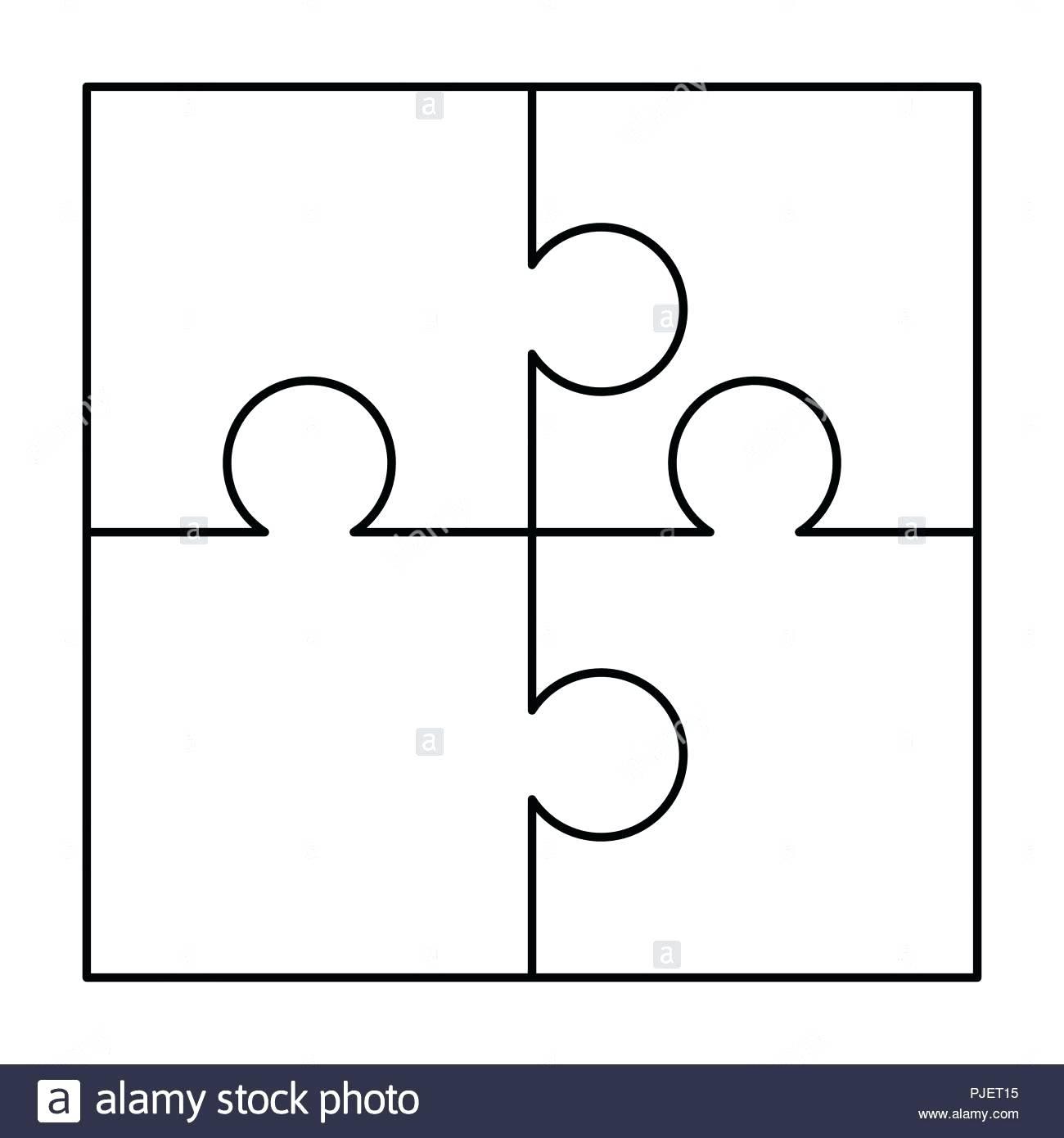 Printable Puzzles Pieces - Yapis.sticken.co - 4 Piece Printable Puzzle
