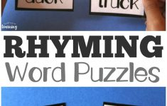 Printable Rhyming Literacy Puzzles For Kids   Look! We're Learning!   Printable Rhyming Puzzles