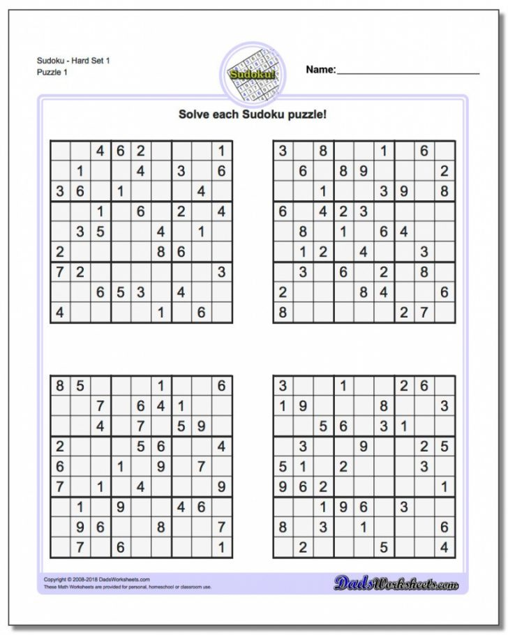 Printable Puzzles By Krazydad