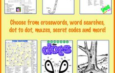 Printable Spring Puzzles For Kids   Crossword, Word Searches And   Printable Spring Puzzles