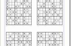 Printable Sudoku 4 Per Page | Printable Sudoku Free   Printable Sudoku Puzzles 6 Per Page