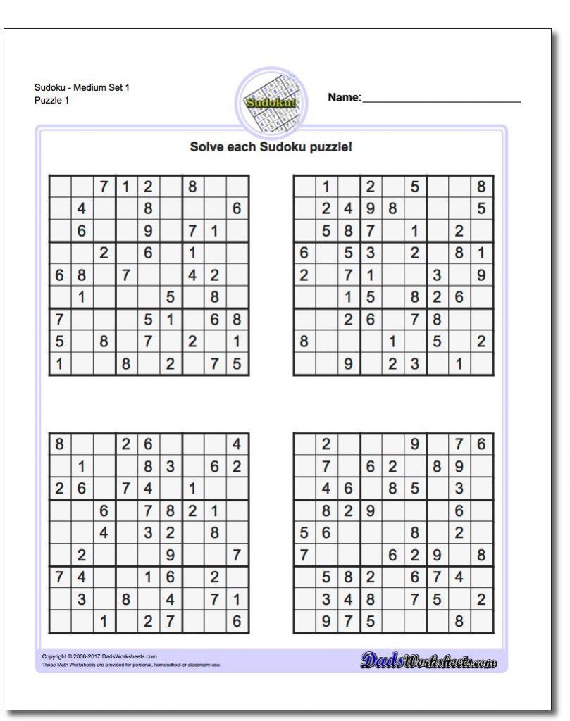 Printable Sudoku Free - 5 Star Sudoku Puzzles Printable