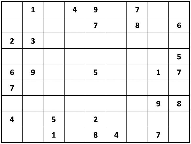 Printable Sudoku Puzzle Site