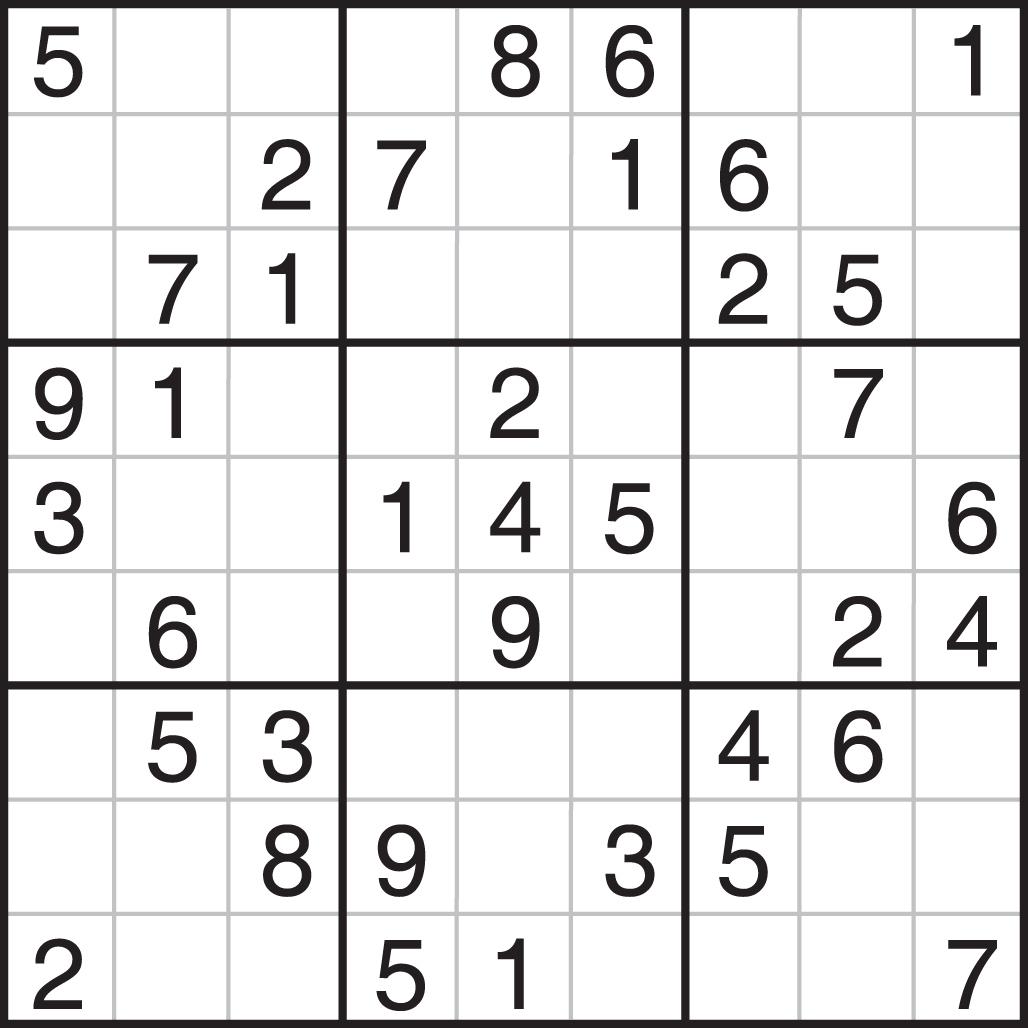 Printable Sudoku - Printable Sudoku Puzzles Easy