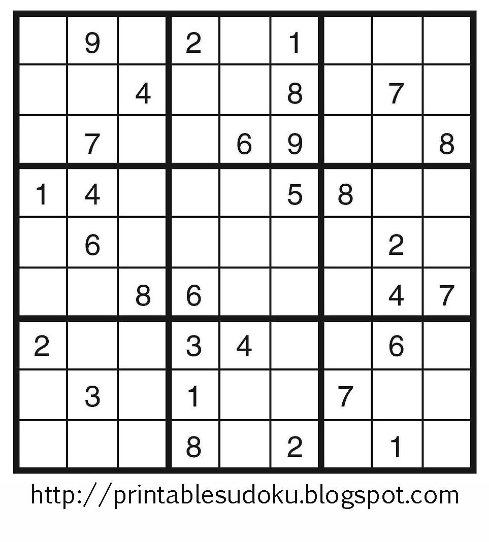 Printable Sudoku - Printable Sudoku Puzzles Very Hard