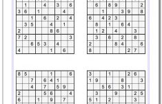 Printable Sudoku Puzzle   Ellipsis   Printable Sudoku Puzzles Easy #1