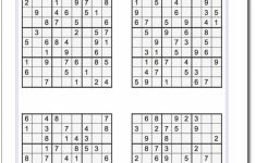 Printable Sudoku Puzzles 4 Per Page Pdf   Printable Sudoku Free   Printable Sudoku Puzzles Easy #4
