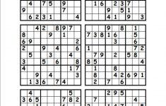 Printable Sudoku Puzzles 6 Per Page   Download Them Or Print   Free   Printable Sudoku Puzzles 4 Per Page