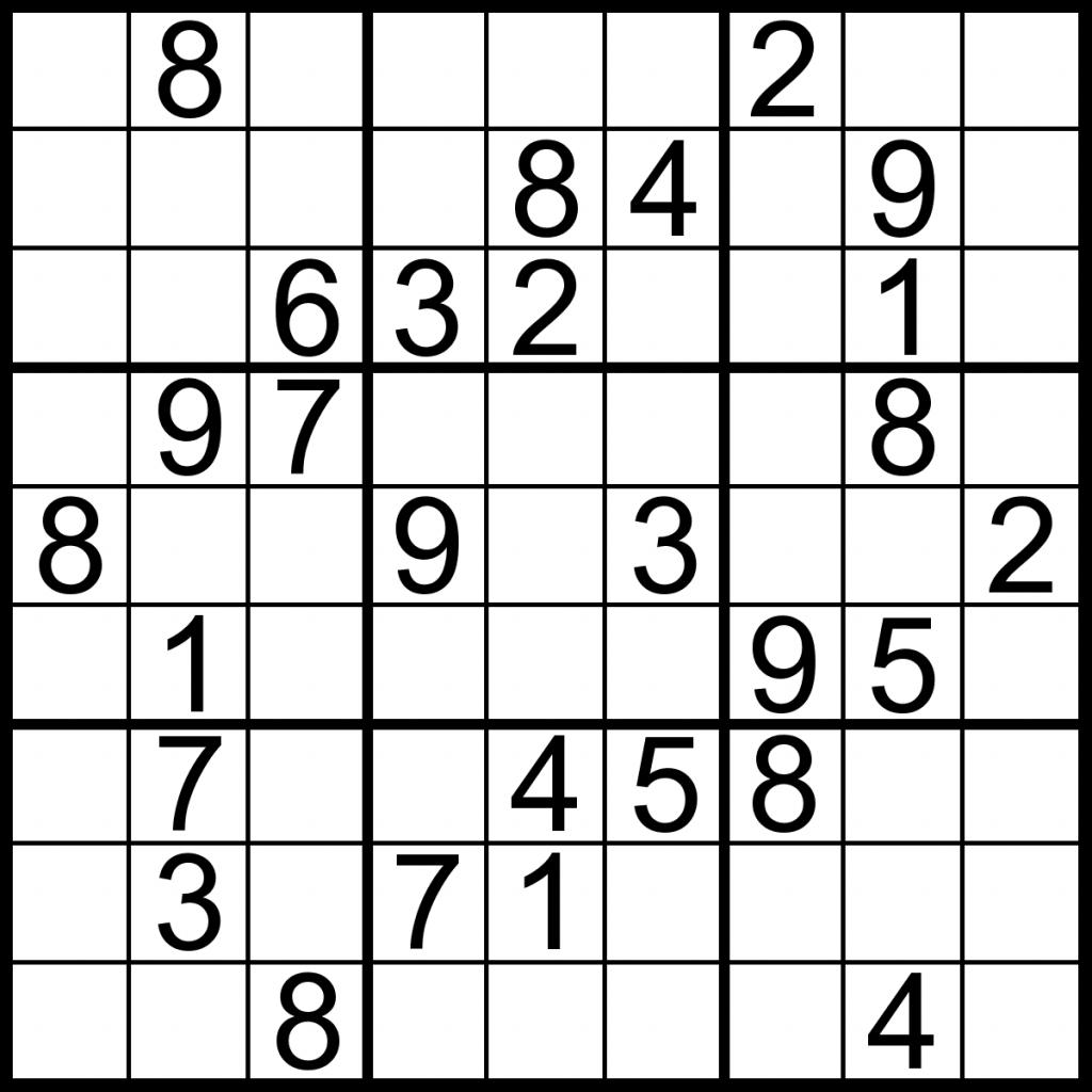 Printable Sudoku Puzzles Medium | Printable Sudoku Free - Printable Sudoku Puzzle Medium