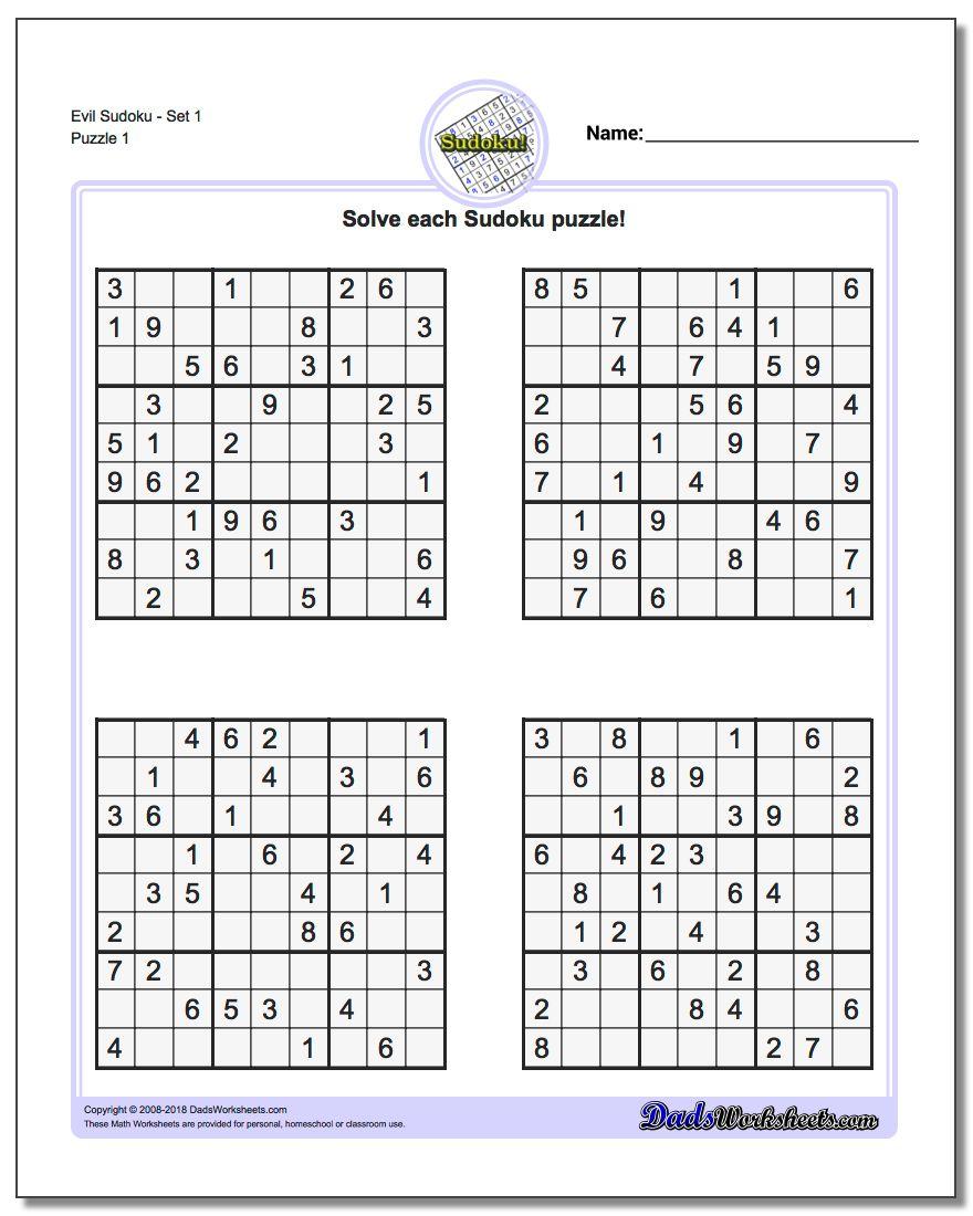 Printable Sudoku Puzzles | Room Surf - Sudoku Puzzle Printable With Answers