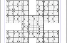 Printable Sudoku Samurai! Give These Puzzles A Try, And You'll Be   Printable Sudoku Puzzle With Answer Key