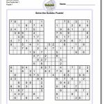 Printable Sudoku Samurai! Give These Puzzles A Try, And You'll Be   Printable Sudoku Puzzles 1 Per Page
