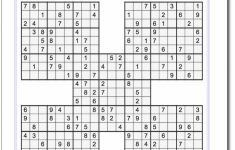 Printable Sudoku Samurai! Give These Puzzles A Try, And You'll Be   Printable Sudoku Puzzles 2 Per Page