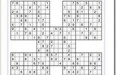 Printable Sudoku Samurai! Give These Puzzles A Try, And You'll Be   Printable Sudoku Puzzles For 5Th Grade
