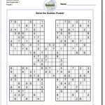 Printable Sudoku Samurai! Give These Puzzles A Try, And You'll Be – Sudoku Puzzle Printable With Answers