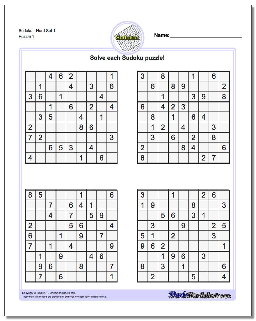Printable Sudoku Sheets   Ellipsis - Printable Sudoku Puzzle Grids