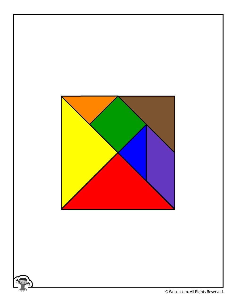 Printable Tangram Puzzle Pieces | Woo! Jr. Kids Activities - Printable Tangram Puzzle