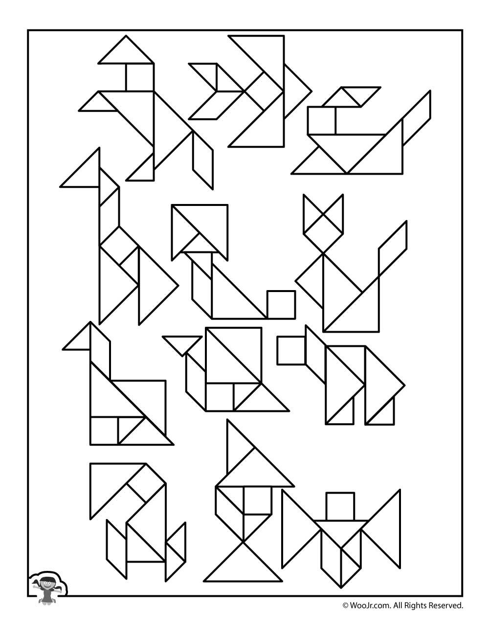 Printable Tangram Puzzles Answer Key | Woo! Jr. Kids Activities - Printable Tangram Puzzles And Solutions
