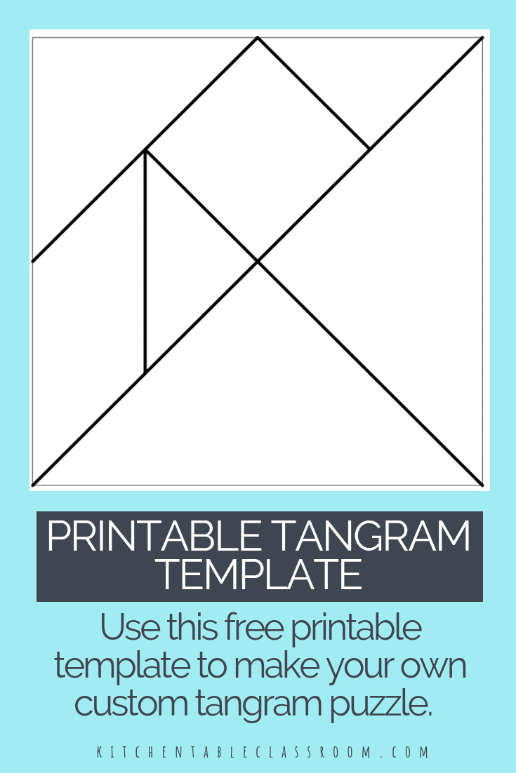 Printable Tangrams - An Easy Diy Tangram Template | Art For - Printable Tangram Puzzle Pieces