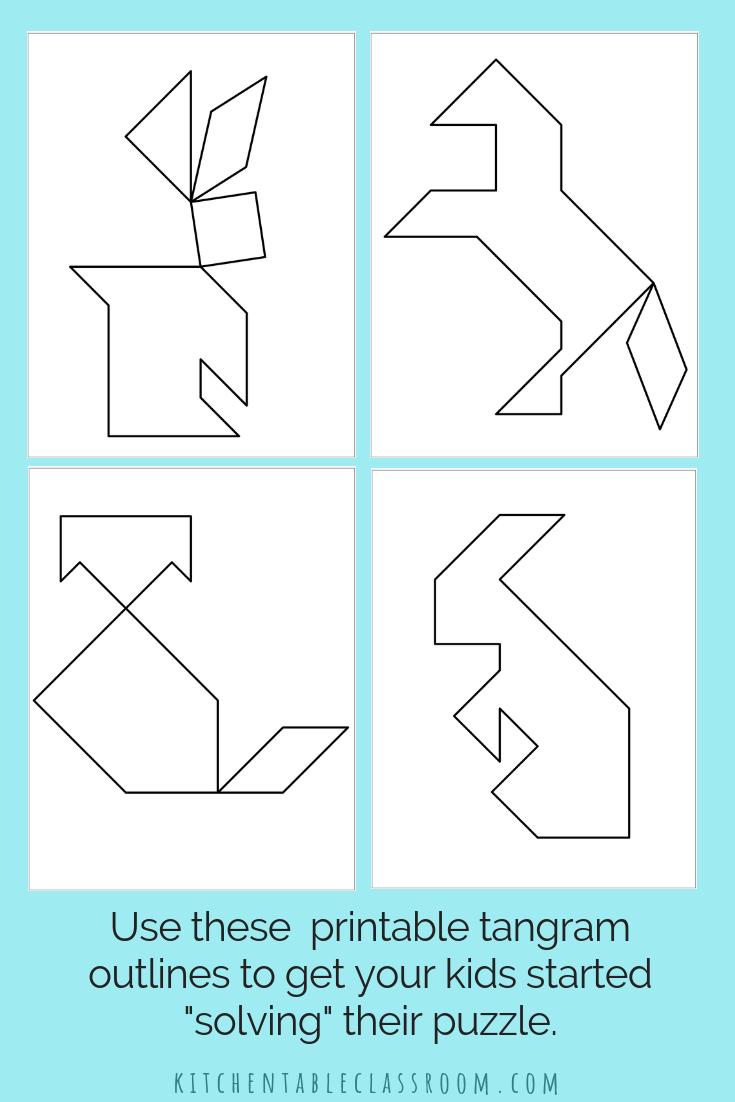 Printable Tangrams - An Easy Diy Tangram Template | Art For - Printable Tangram Puzzle Templates
