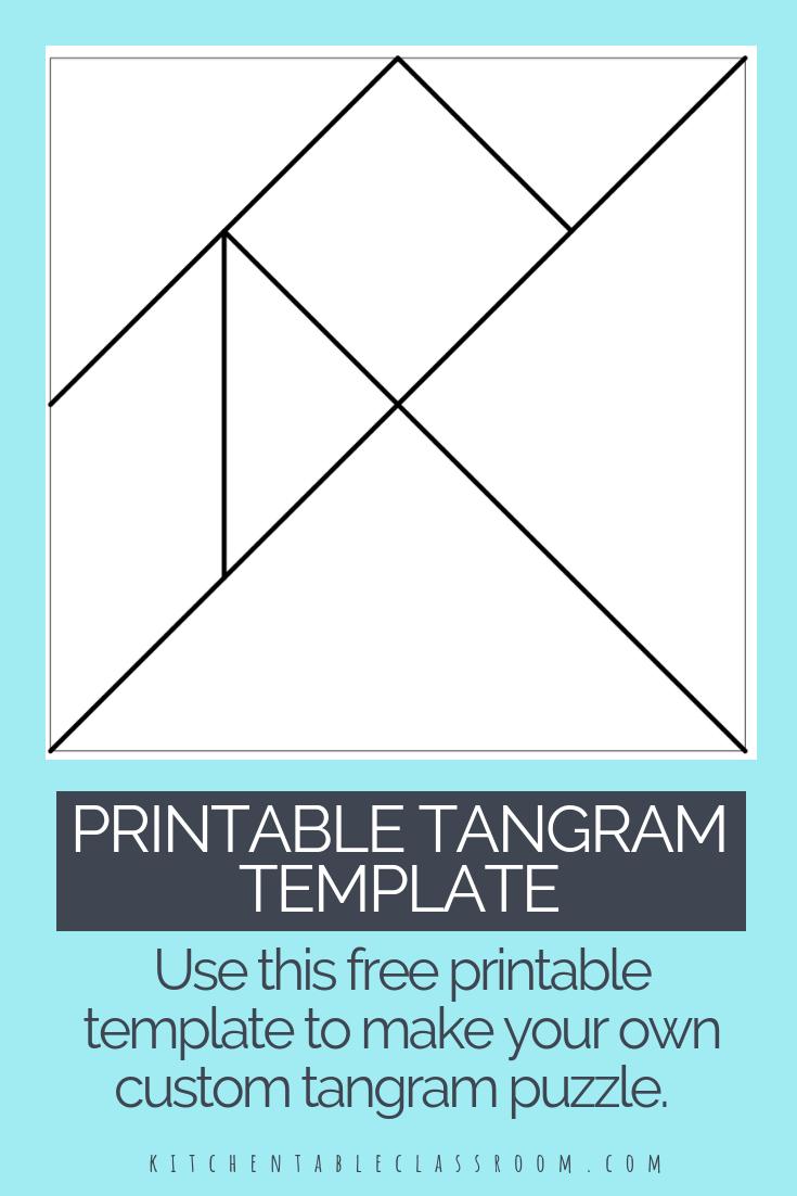 Printable Tangrams - An Easy Diy Tangram Template | Art For - Printable Tangram Puzzles Pdf