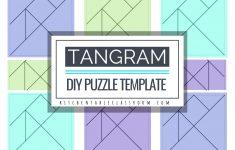 Printable Tangrams   An Easy Diy Tangram Template   The Kitchen   Printable Tangram Puzzle