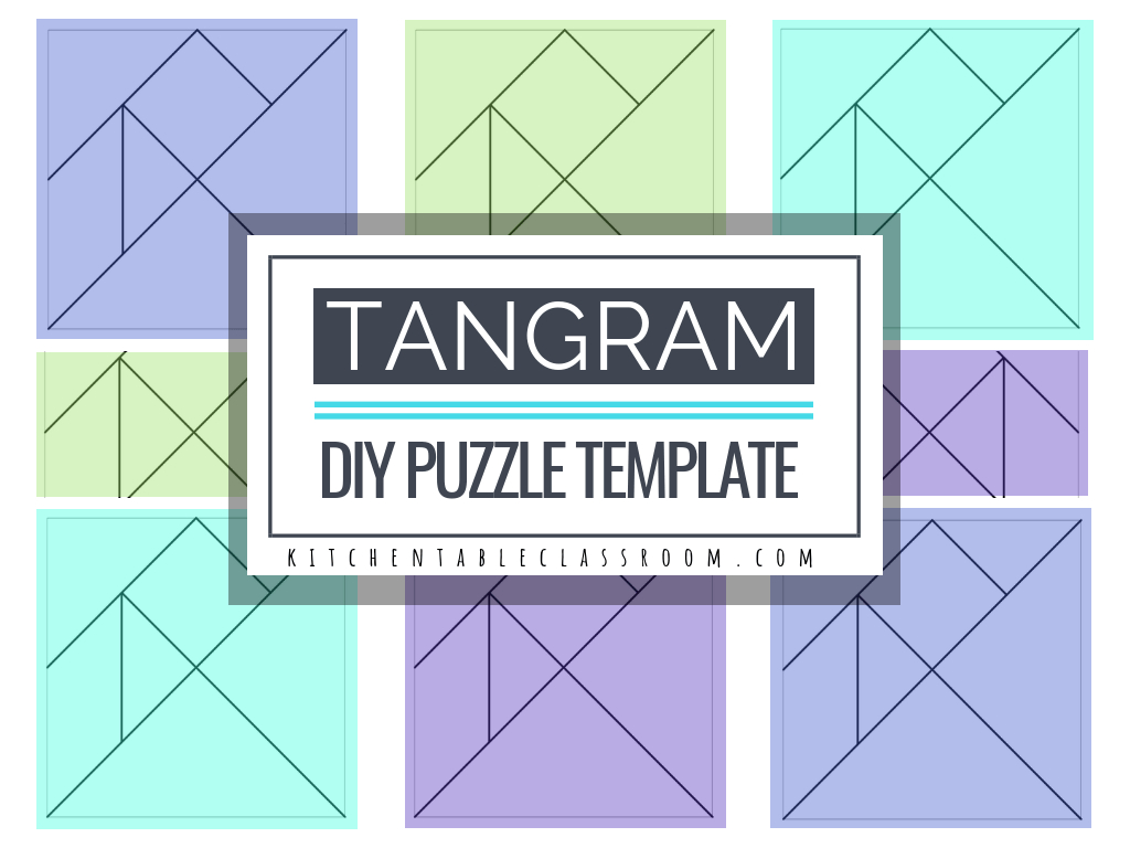 Printable Tangrams - An Easy Diy Tangram Template - The Kitchen - Printable Tangram Puzzle Pieces