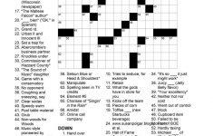 Printable Thomas Joseph Crossword Answers   Free Printable   Printable Crossword Puzzles By Thomas Joseph