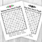 Printable Wedding Activity Word Search Puzzle | Etsy   Printable Wedding Puzzles