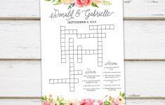 Printable Wedding Crossword Puzzle Game Games For Wedding | Etsy   Free Printable Wedding Crossword Puzzle