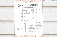 Printable Wedding Crossword Puzzle Game, Games For Wedding   Printable Wedding Crossword Puzzle