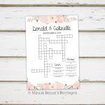 Printable Wedding Crossword Puzzle Game, Games For Wedding   Printable Wedding Puzzles