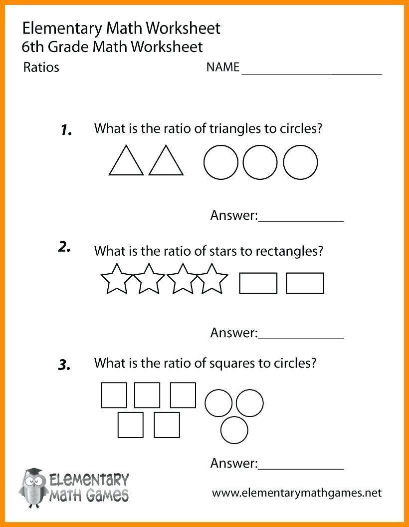 Printable Worksheets For 6Th Graders Grade Math Ratios Worksheets - Printable Puzzles For 6Th Grade