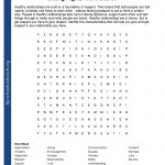 Printable Worksheets   Printable Recovery Crossword Puzzles