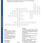 Printable Worksheets   Teenage Crossword Puzzles Printable Free