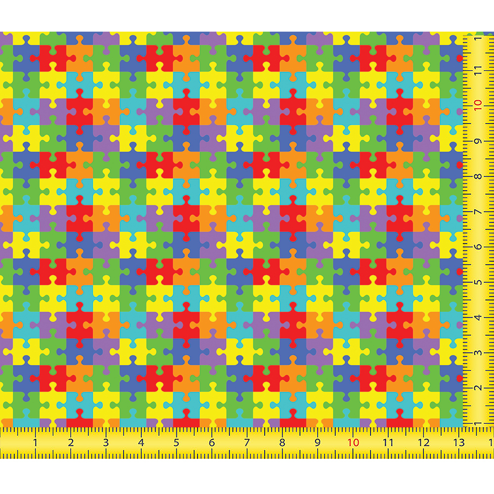 Printed Pattern Htv - Puzzle #23 - Puzzle Print Htv