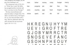 Prodigal Son Worksheets And Puzzles | 5Th Grade Catechist Resources   Printable Word Puzzles For 5Th Grade