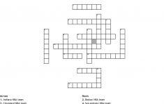 Professional Sports Teams Crossword   Wordmint   Printable Basketball Crossword Puzzles