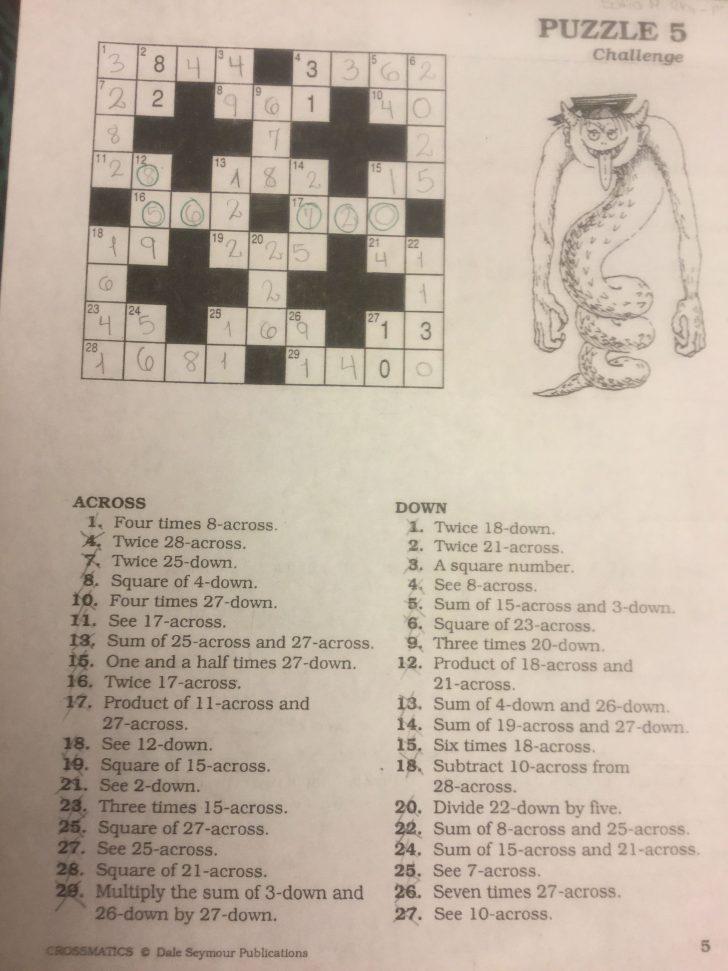 Free Printable Crossword Puzzle #5