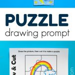 Puzzle Drawing Prompt For Kids With A Free Printable Template | Free   Printable Drawing Puzzles